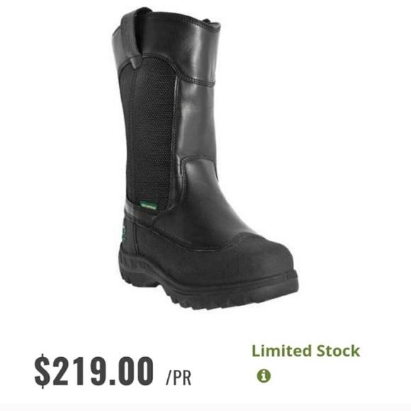 65100a7e791 John Deere Men's Waterproof Black Work Boots 🦌 NWT
